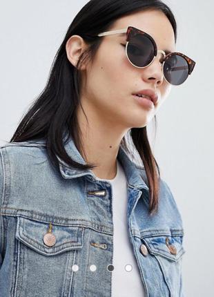 Женские солнцезащитные очки кошечки с леопардовой оправой
