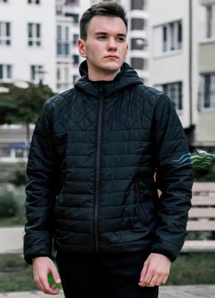 Куртка мужская демисезонная стеганая asos черная / курточка чо...