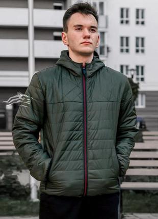 Куртка мужская демисезонная стеганая asos хаки / курточка чоло...