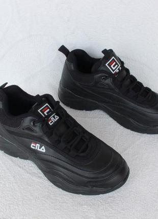 Черные кроссовки фила, fila 37 размера
