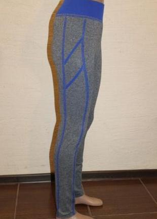 Спортивные лосины леггинсы для занятий фитнесом спортом синие
