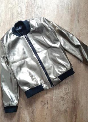Модная детская куртка-бомбер на весну, 104р.