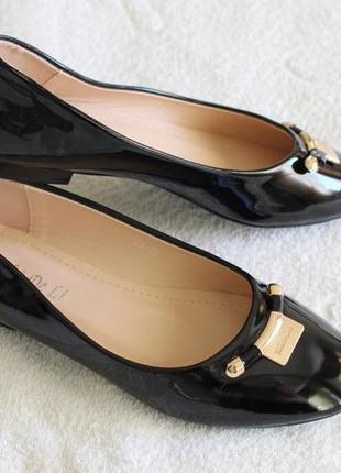Черные лаковые балетки, туфли 40, 41 размера