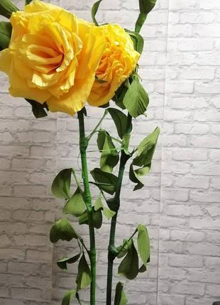 Цветы ростовые розы пионы фотозона праздник цена за два