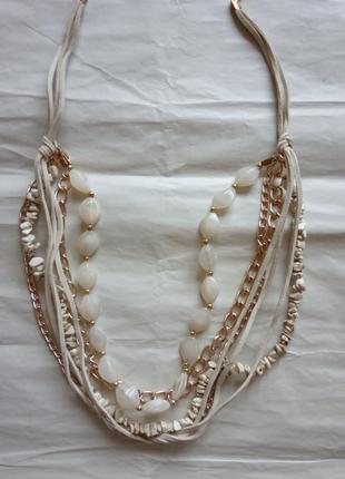 Колье ожерелье бусы суперцена итальянская бижутерия
