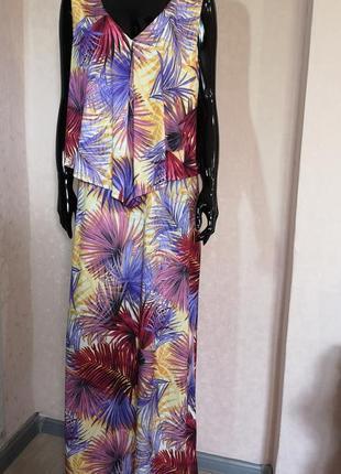 Скидка дня длинное платье в пол платье макси батал uk 20 eur 4...