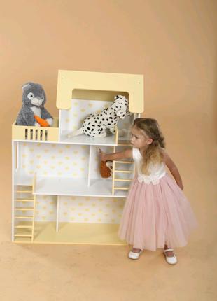 Кукольный домик 120 см Беж