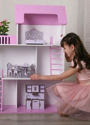 Кукольный дом 120 см Без мебели Девочки в восторге