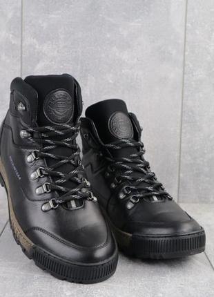 Качественные мужские кожаные ботинки {зима}