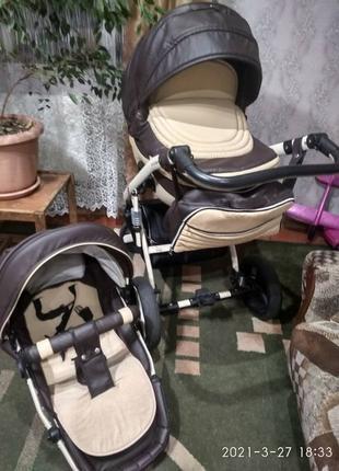 Универсальная коляска  Lumi эко-кожа