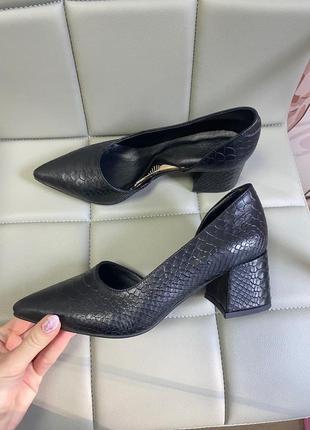 Туфли питон кожа натуральная люкс