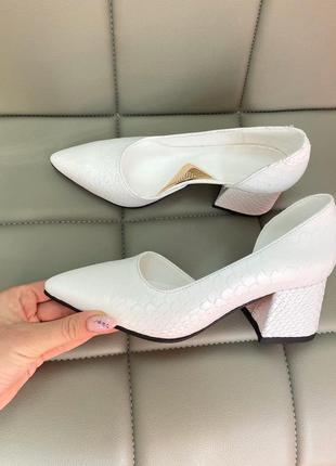 Туфли белые питон кожа люкс