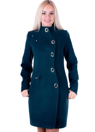 Пальто стильное женское демисезонное кашемир 46,48,50 р с поясом