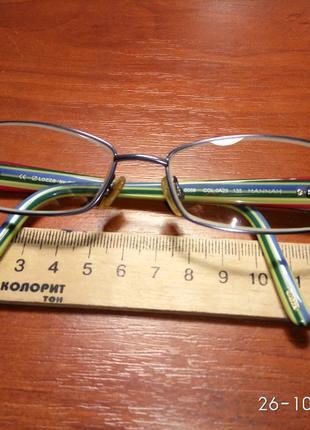 Lozza оригинал детские очки оправа металлическая в идеальном сост