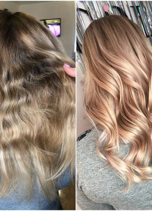 Окрашивание Ботокс волос Кератиновое выпрямление