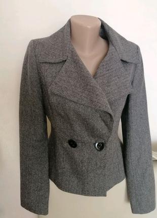 💗супер крутой пиджак в елочку, 71%шерсть 29% полиамид