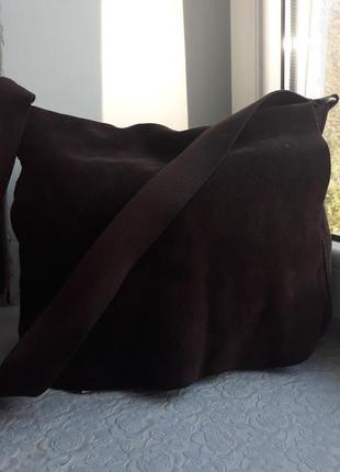 Замшевая коричневая сумка 300грн!