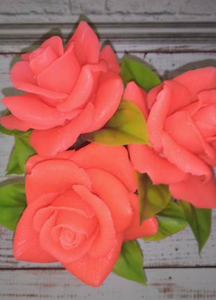 Подарок из мыла ручной работы. Цветы. Букет роз