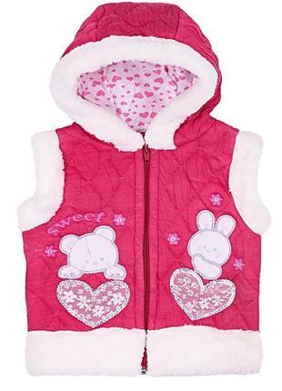 Жилетка для девочки,розовая жилетка для девочки