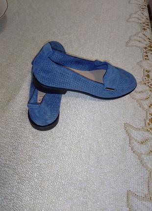туфельки весенние из замши