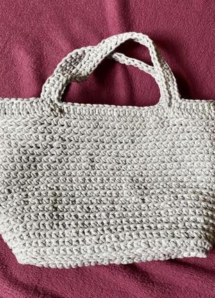 Вязаная сумка ручная работа hand made авторская сумочка ручной...