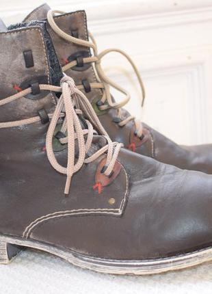 Утепленные ботинки rieker р.42 28 см