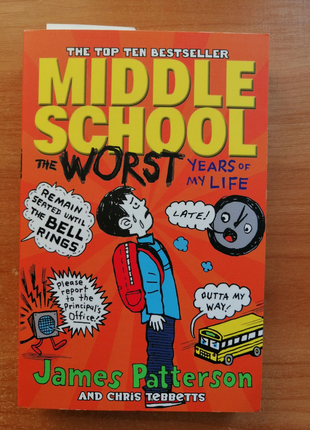 Книга на английском : Middle school the worst years of my life