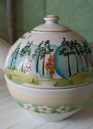 Чайник для заварки с чашкой