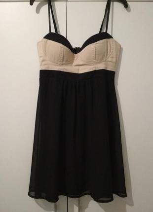 Вечернее черное платье, платье бюстье asos