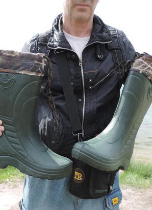 Сапоги мужские для рыбалки/охоты с утеплителем. всесезонные му...