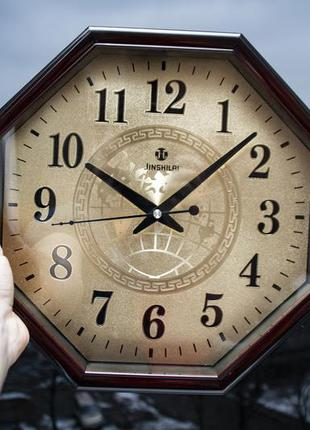 Настенные часы с металлическим циферблатом. часы jsl 42d кварц...