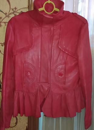 Куртка лайка, куртка кожаная, куртка японская, размер l