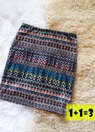 Базовая мини юбка xs-s на талию стильная в обтяжку карандаш уз...