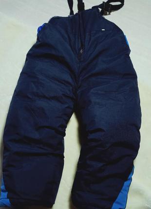 Полукомбинезон детский. теплые штаны