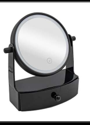 Настольное косметическое зеркало с подсветкой и ящичком