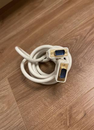 Кабель VGA белый 2 метра