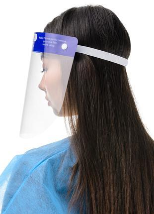 Маска щиток пластиковая защитная для лица