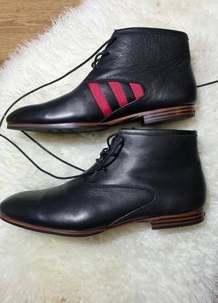 Кожаные ботинки yohji yamamoto adidas y3