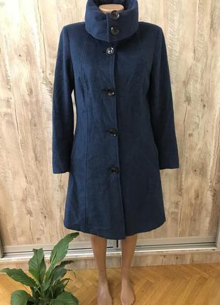 Бирюзовое шерстяное пальто шерсть jazz