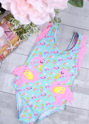 Стильный сдельный купальный фламинга