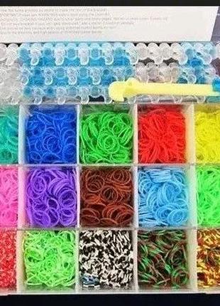 Набор резинок для плетения браслетов Rainbow Loom bands