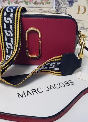 Кожаная оригинальная сумочка-клатч через плечо marc jacobs