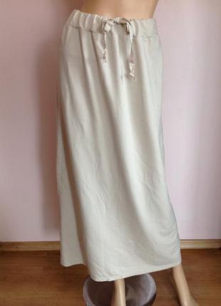 Длинная бутиковая итальянская трикотажная юбка/s- m/