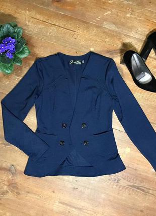 Жіночий синій піджак, жакет 44 розмір. синий женский пиджак. а...
