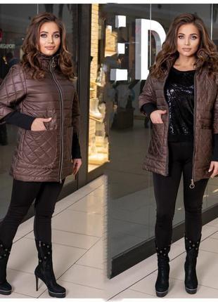 Женская куртка весенняя большой размер