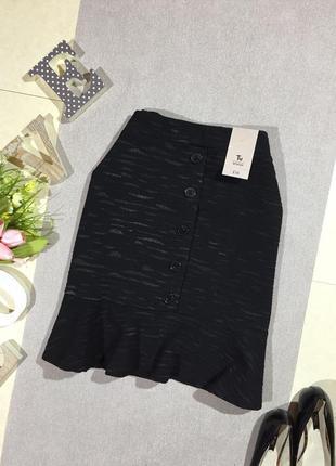 Новая! шикарная юбка в необычный принт с пуговками.