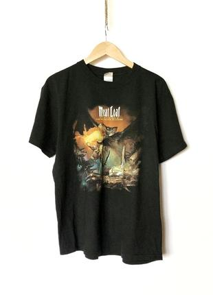 Винтажная футболка meatloaf meat loaf iron maiden metallica ро...