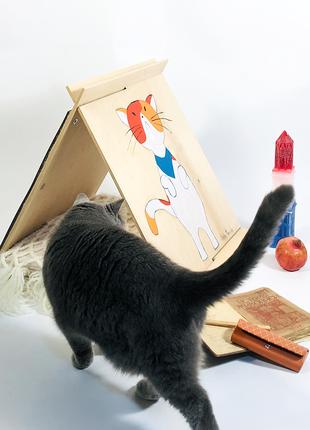Домик для котов сборной со сменной когтеточкой