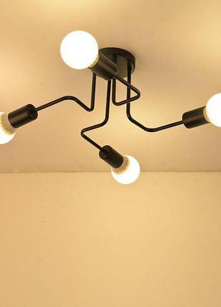 Люстра светильник потолочный, на 4 лампы, Лабиринт