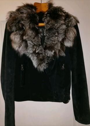 Куртка из натурального замша и натурального меха